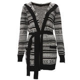 Alpine Knit Woollen Belted Cardigan